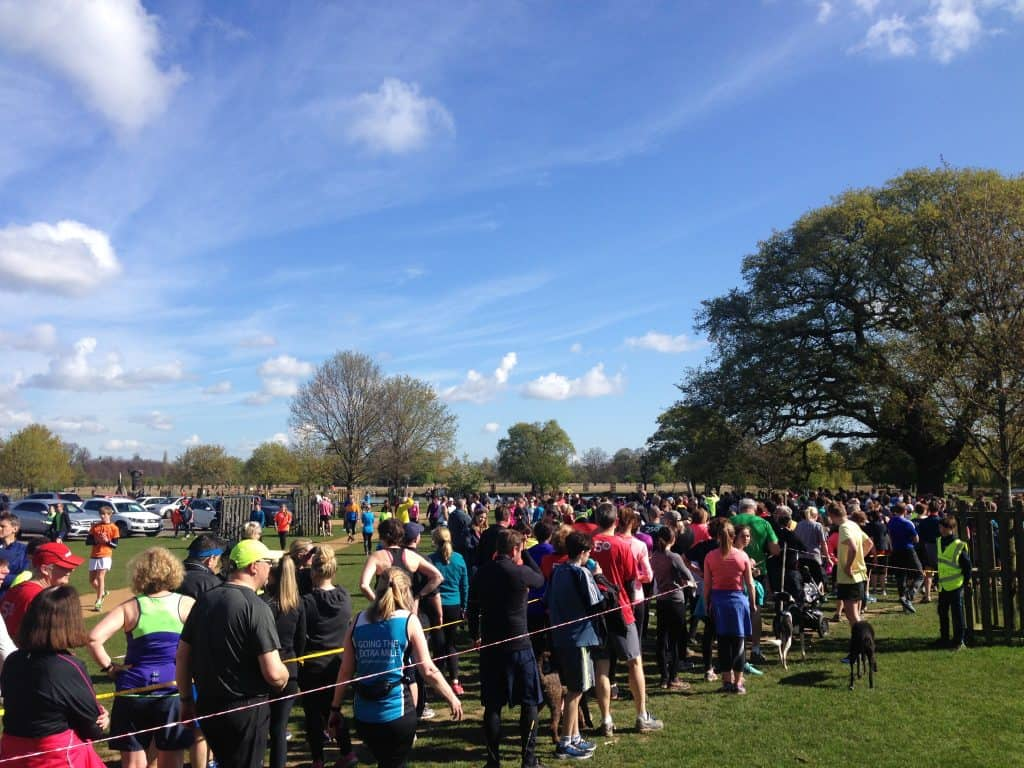 Look how many people there are at parkrun!