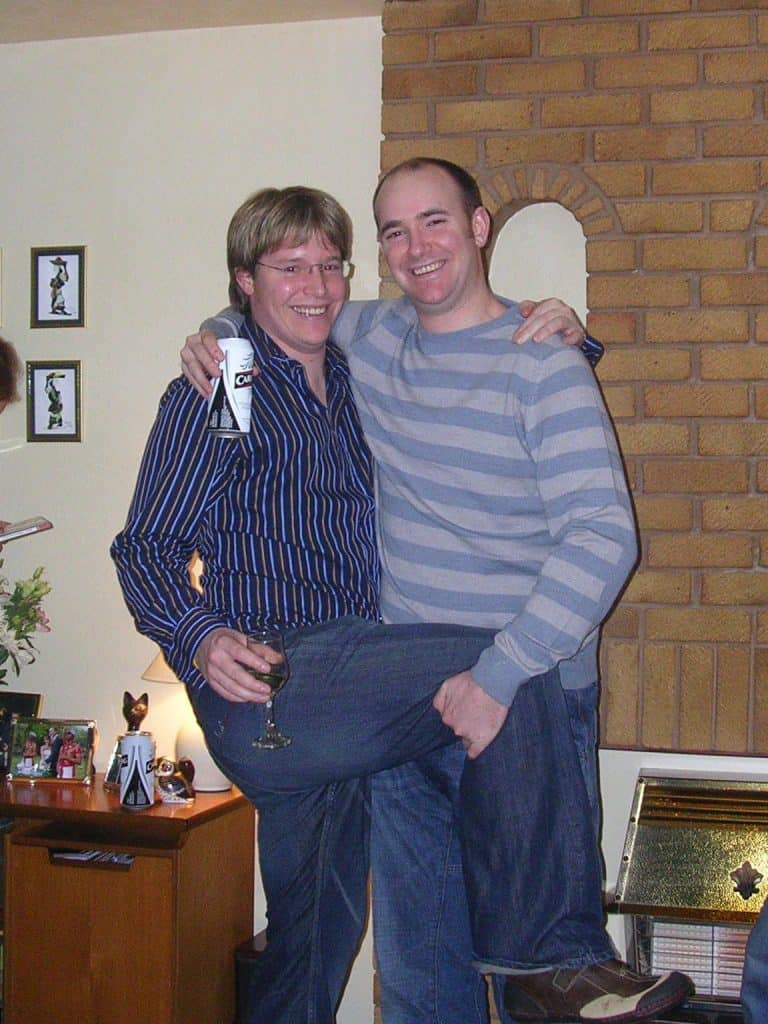 Andy and Iain a long time ago