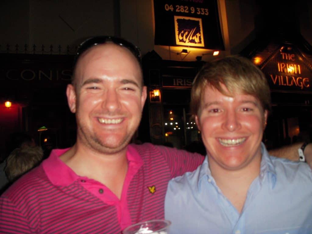 Andy and Iain Dubai 2