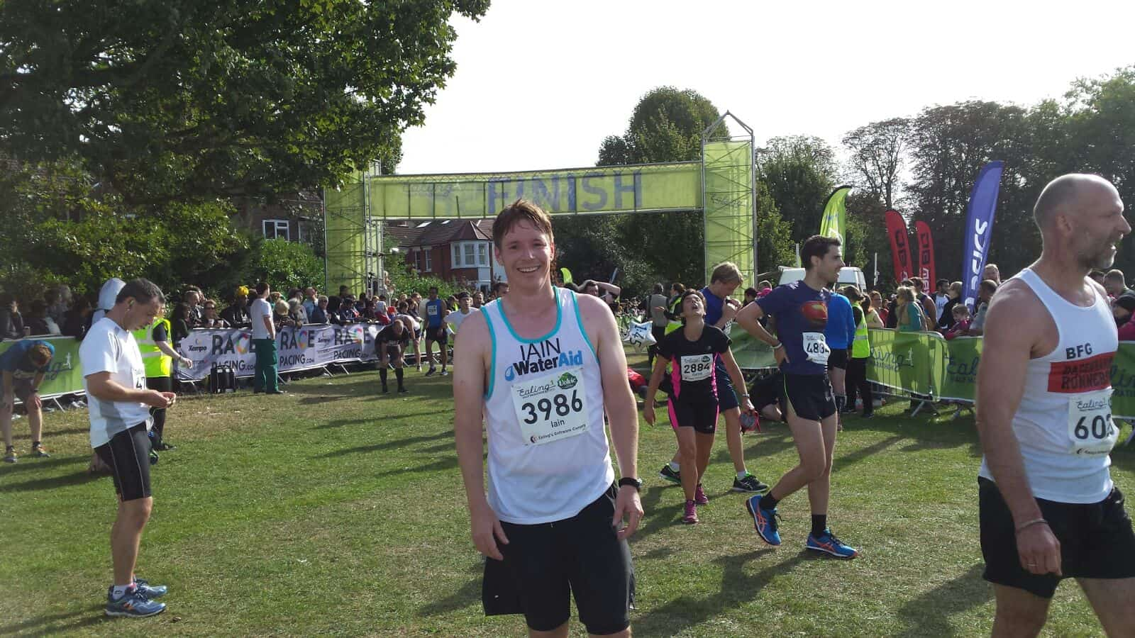 Ealing Half 2016 Finish