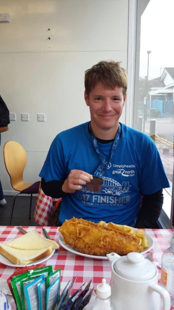 Great North Run Fish and Chips