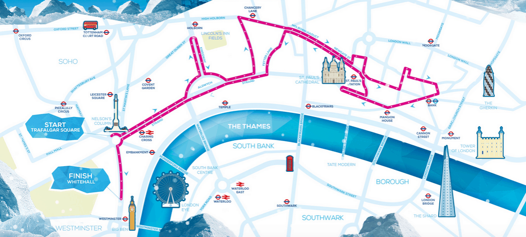 London Winter Run Route