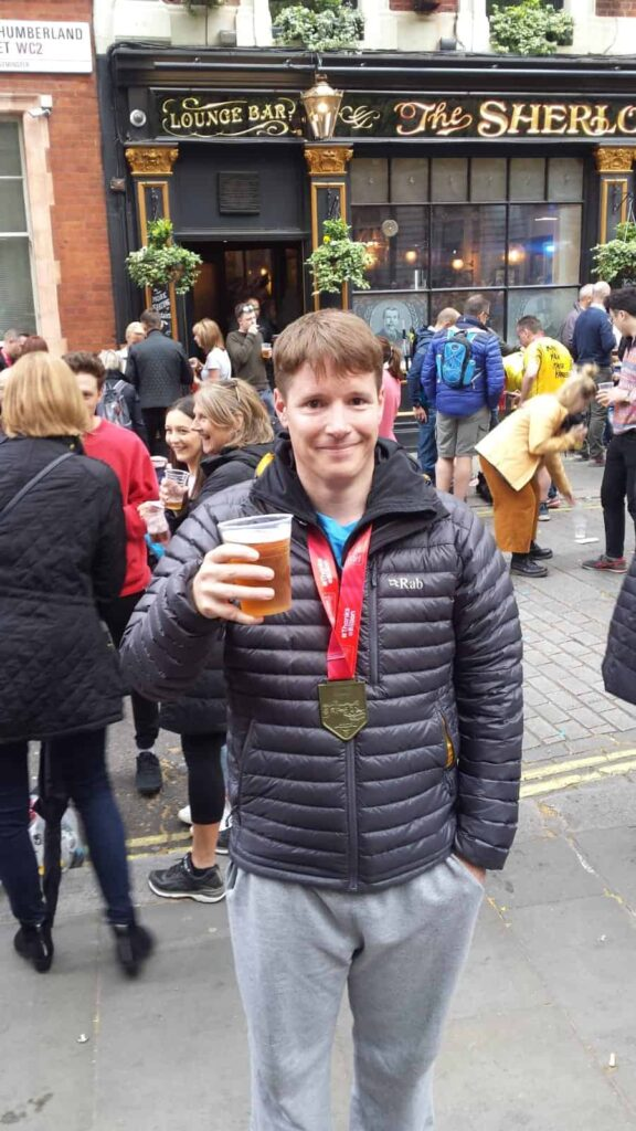 London Marathon 2019 Beer